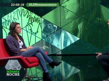 Irene Montero visita laSexta Noche