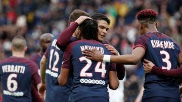 Nkunku celebrando un gol