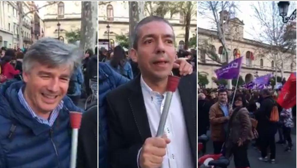 El degradante vídeo de dos hombres insultando a las mujeres en la huelga del 8M