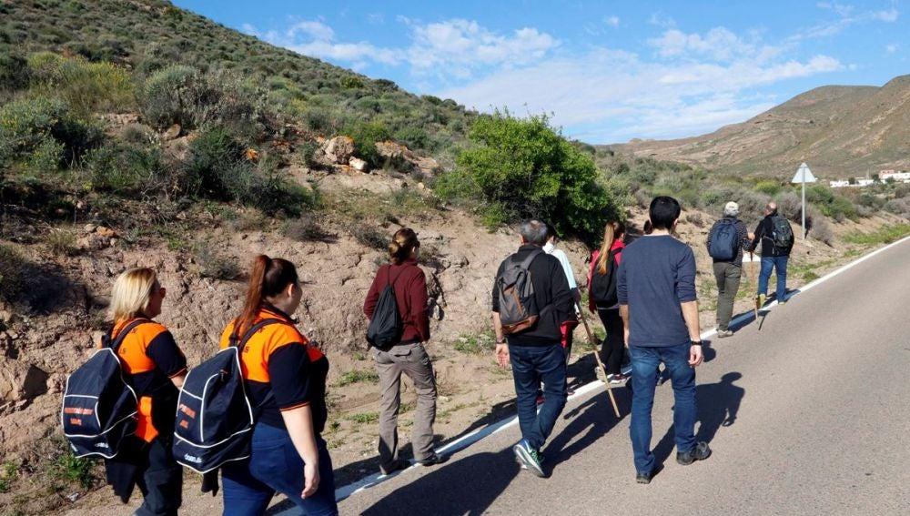 Voluntarios en las labores de búsqueda de Gabriel Cruz