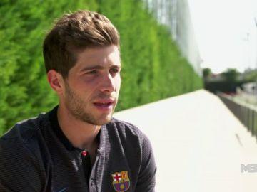 """Sergi Roberto: """"Salir jugando desde atrás es lo que diferencia al Barcelona de otros clubes"""""""