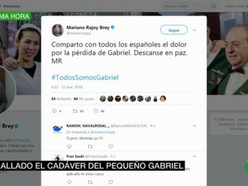 Mariano Rajoy, Pedro Sánchez y Zoido muestran sus condolencias tras el hallazgo del cadáver de Gabriel Cruz