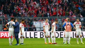 Los jugadores del Hamburgo