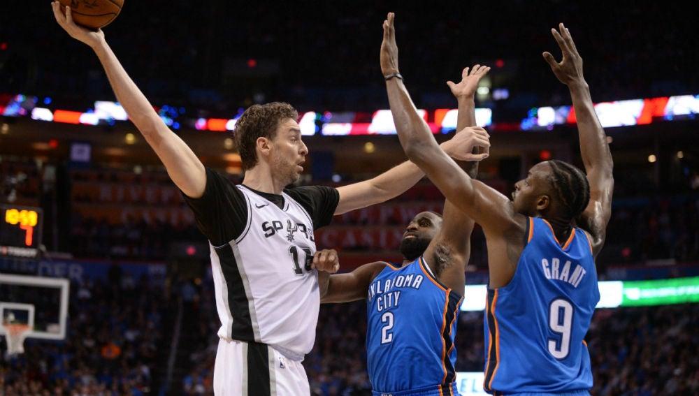 Pau Gasol, con los Spurs