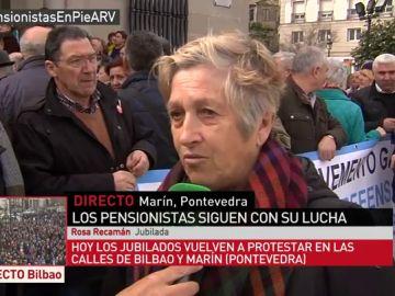 Rosa Recamán, pensionista residente en Marín, Pontevedra