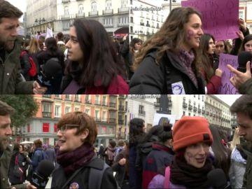 Reportaje de Gonzo con las mujeres ne la huelga del 8M