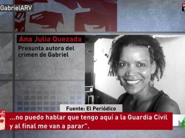 Conversación de Ana Julia Quezada antes de ser detenida