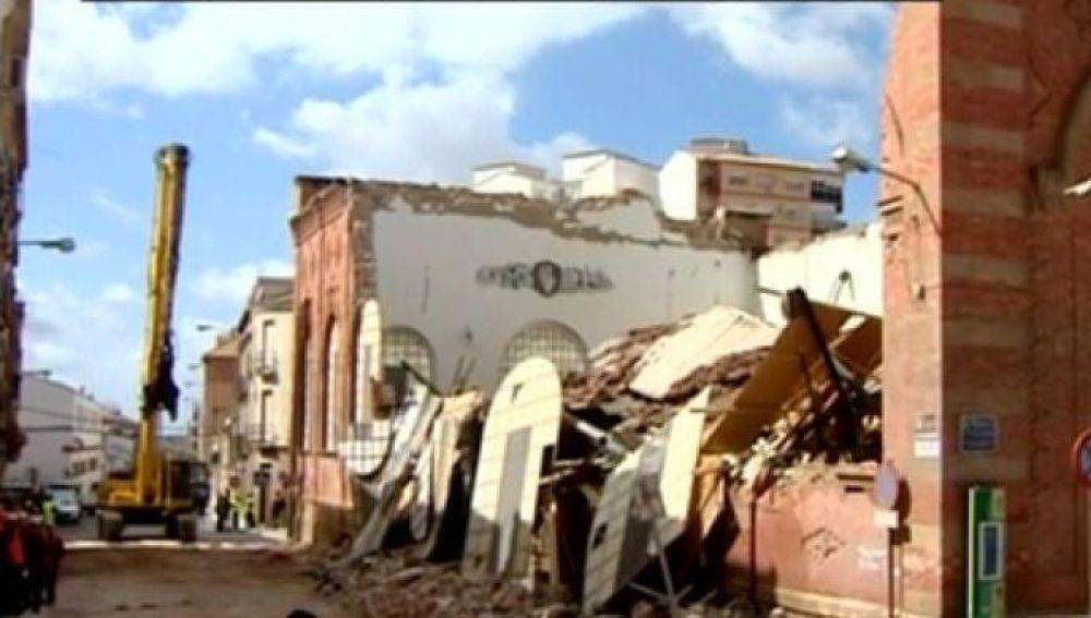 Mercado de Linares destrozado tras el temporal Félix