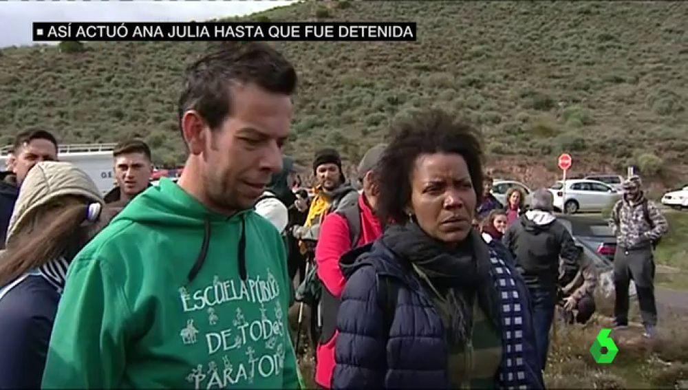 Ana Julia Quezada en una de las partidas de búsqueda de Gabriel