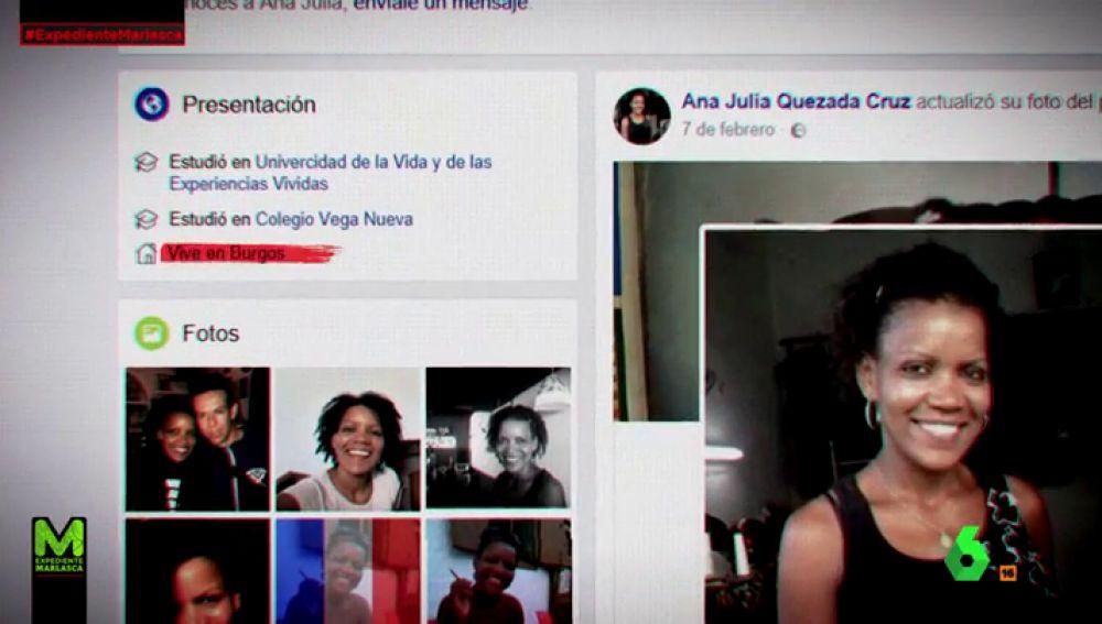 Facebook de Ana Julia Quezada