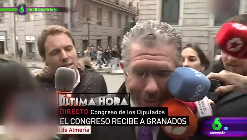 Francisco Granados a las puertas del Congreso de los Diputados