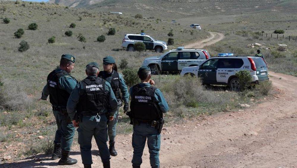 La Guardia Civil custodia la finca de Rodalquilar, en Níjar