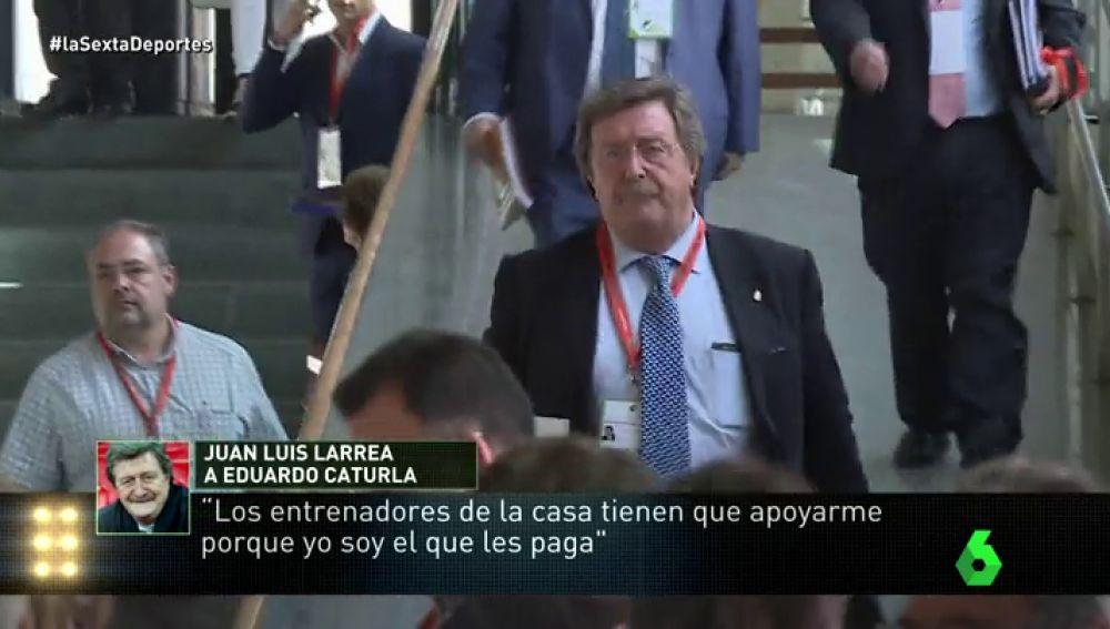 Las supuestas presiones de Larrea a árbitros y técnicos para que avalasen su candidatura