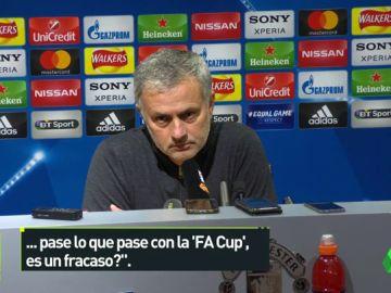 """El cabreo de Mourinho con un periodista: """"¿Fracaso? ¿Te interesa eso en España?"""""""
