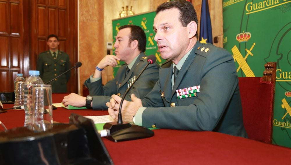 El teniente coronel José Hernández Mosquera y el comandante Jesús Reina