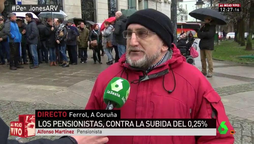 Alfonso Martínez, pensionista