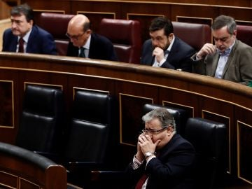 El ministro del Interior Juan Ignacio Zoido durante el pleno del Congreso