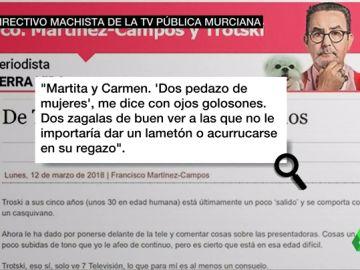 """Un directivo de la televisión pública murciana habla de sus subordinadas por boca de su perro: """"Hay dos 'zagalas' a las que no le importaría dar un lametón"""""""