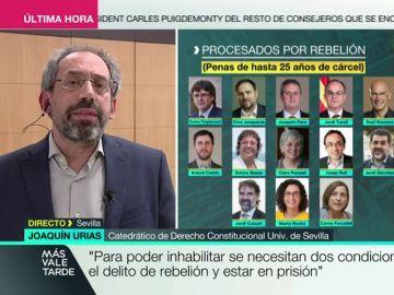 Joaquín Urias, catedrático de Derecho Constitucional de la Universidad de Sevilla