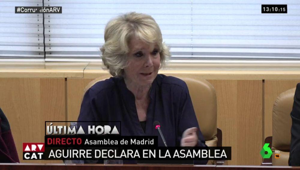 Esperanza Aguirre en la Asamblea de Madrid