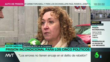 Ester Capella, diputada de ERC en el Congreso