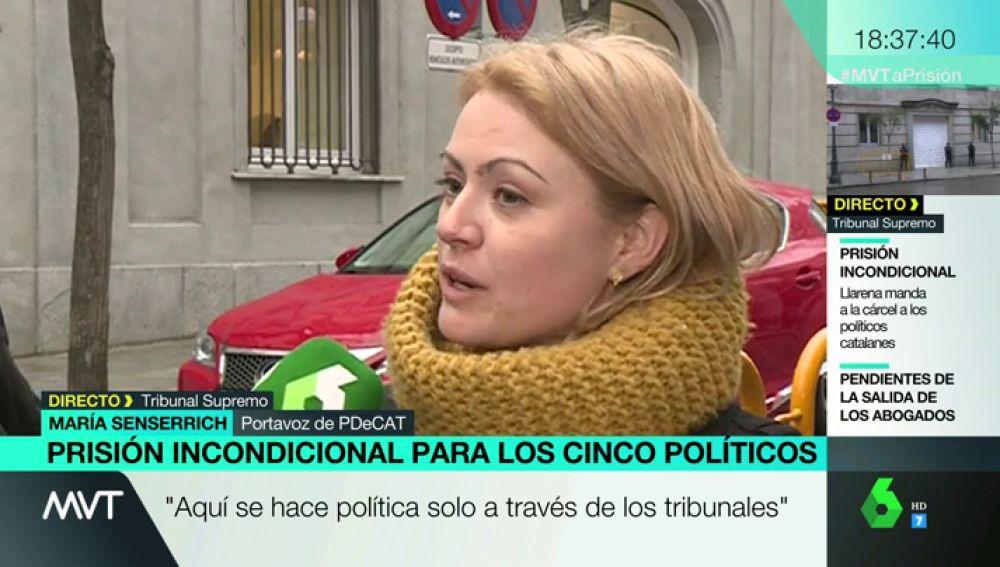 María Senserrich, portavoz del PDeCAT