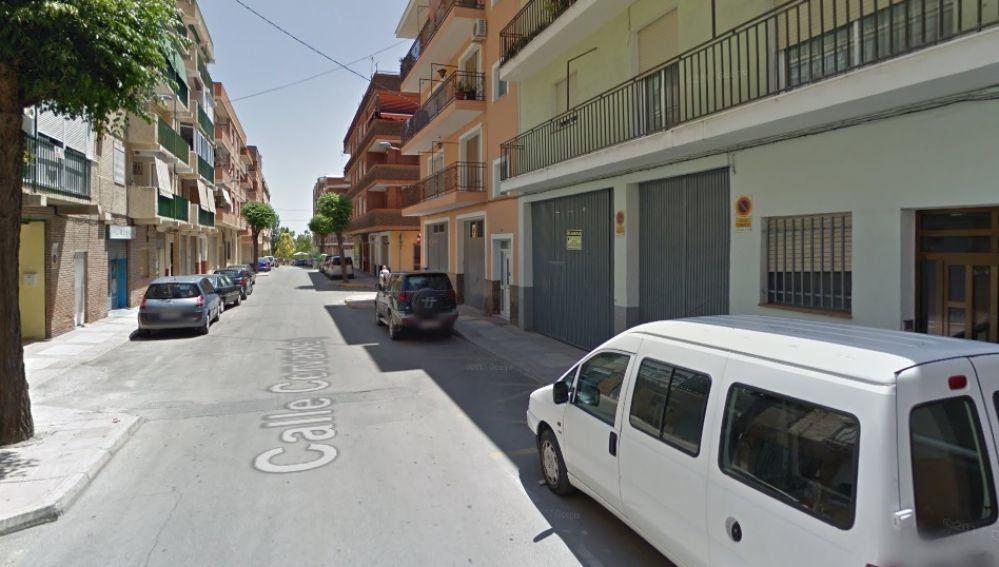 Imagen de la calle Cervantes, en Caravaca de la Cruz, Murcia
