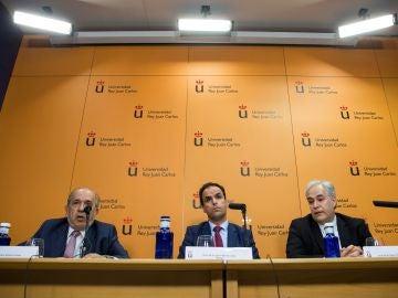 Rueda de prensa ofrecida por la URJC para explicar la supuesta falsificación de Cifuentes