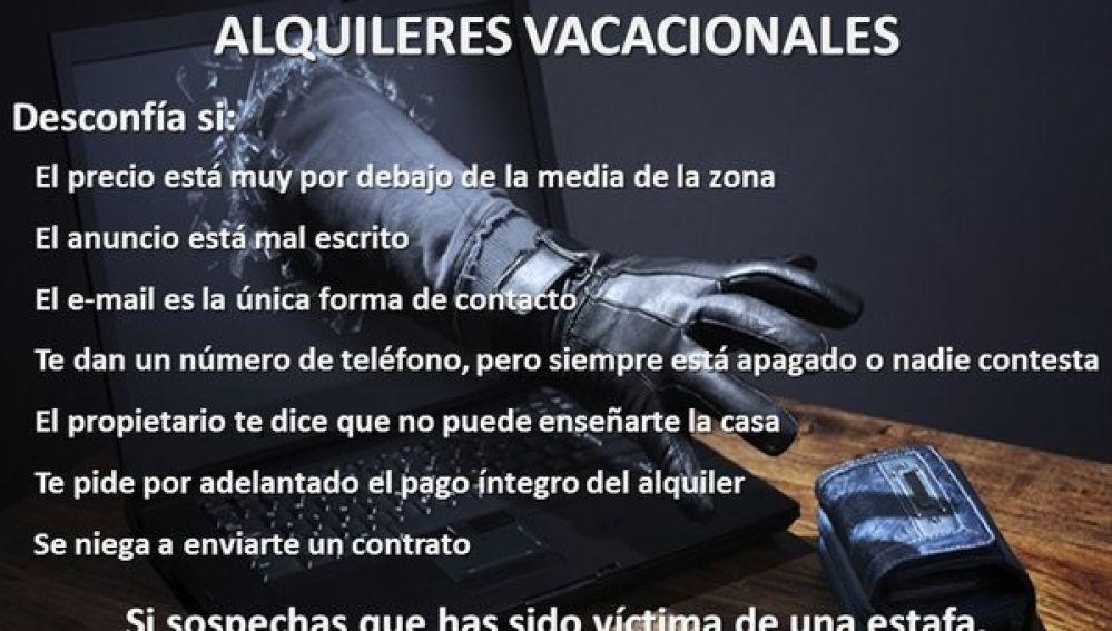 Fraude en alquileres vacacionales