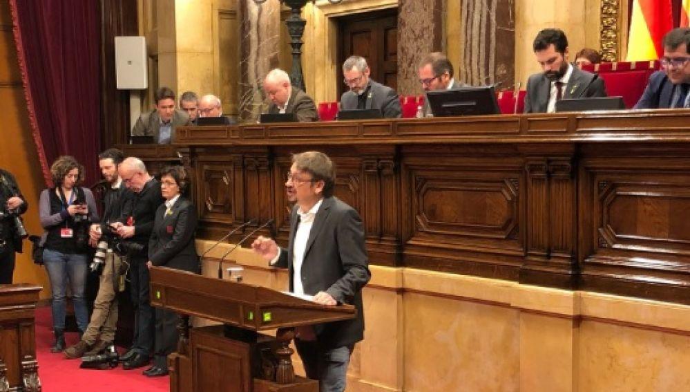 Xavier Domènch en el Parlament