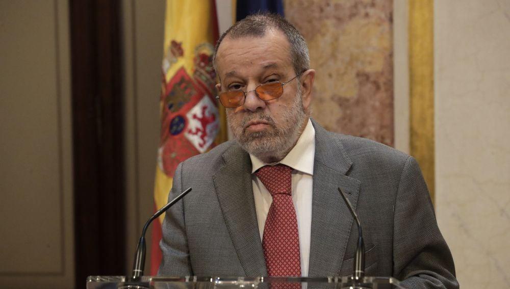 El Defensor del Pueblo en funciones, Francisco Fernández Marugán,