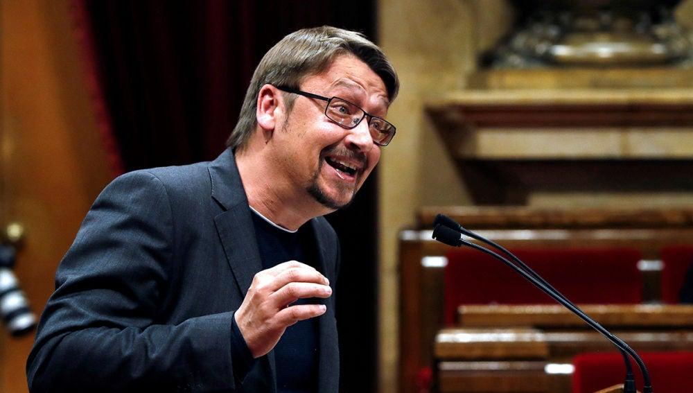Xavier Domènech en el Parlament
