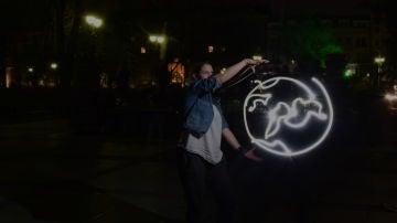 Imagen de archivo de un acto durante la Hora del Planeta