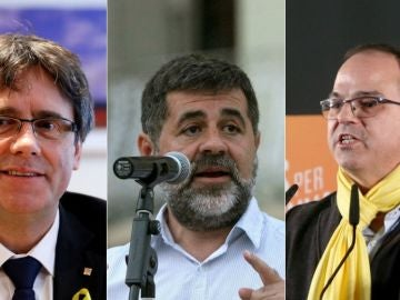 Puigdemont, Sánchez y Turull