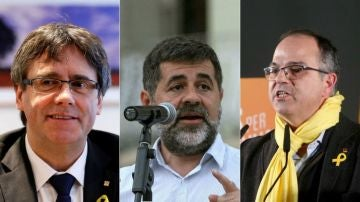 Puigdemont, Sánchez y Turull