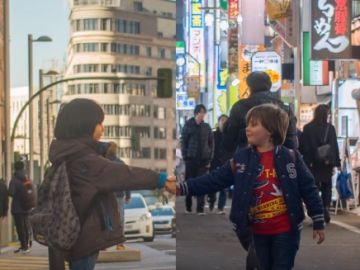 Los niños protagonistas del cortometraje