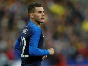 Lucas Hernández, en su debut con Francia