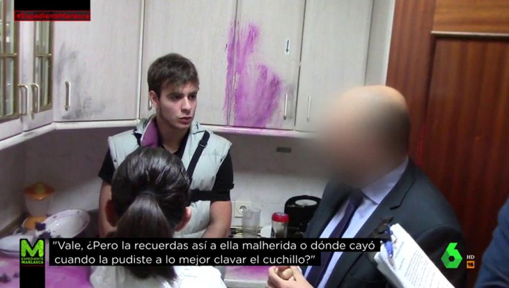 Patrick Noguiera en la escena del crimen de Pioz
