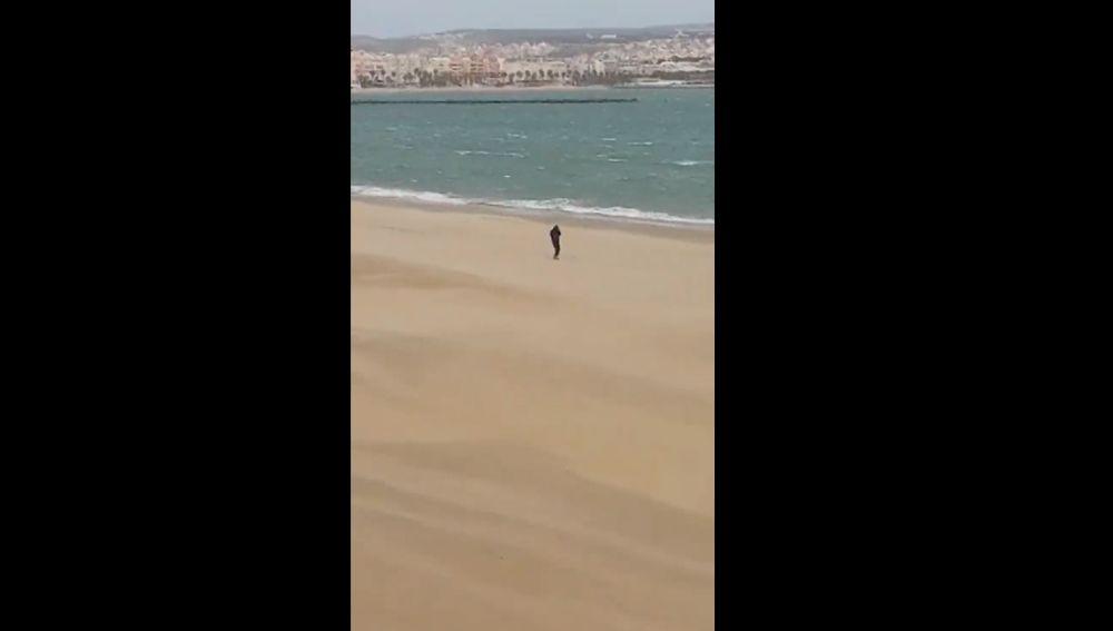 Frame del vídeo racista