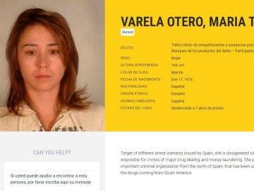 Imagen tomada de la web de Europol de la abogada María Teresa Varela Otero