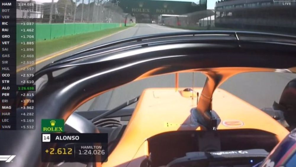Cámara on-board de Alonso