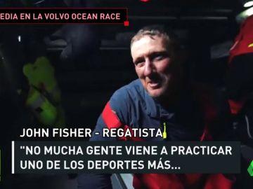 La Volvo Ocean Race da por perdido a John Fisher, regatista inglés que cayó al mar y lleva más de un día desaparecido