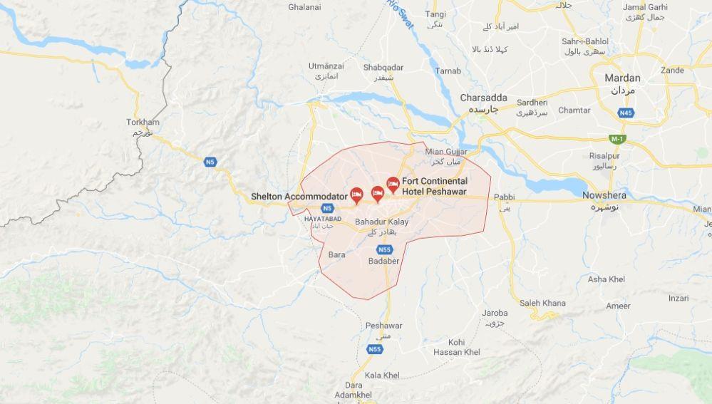 Peshawar, región al norte de Pakistán