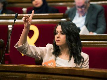 La líder y portavoz de Ciutadans, Inés Arrimadas