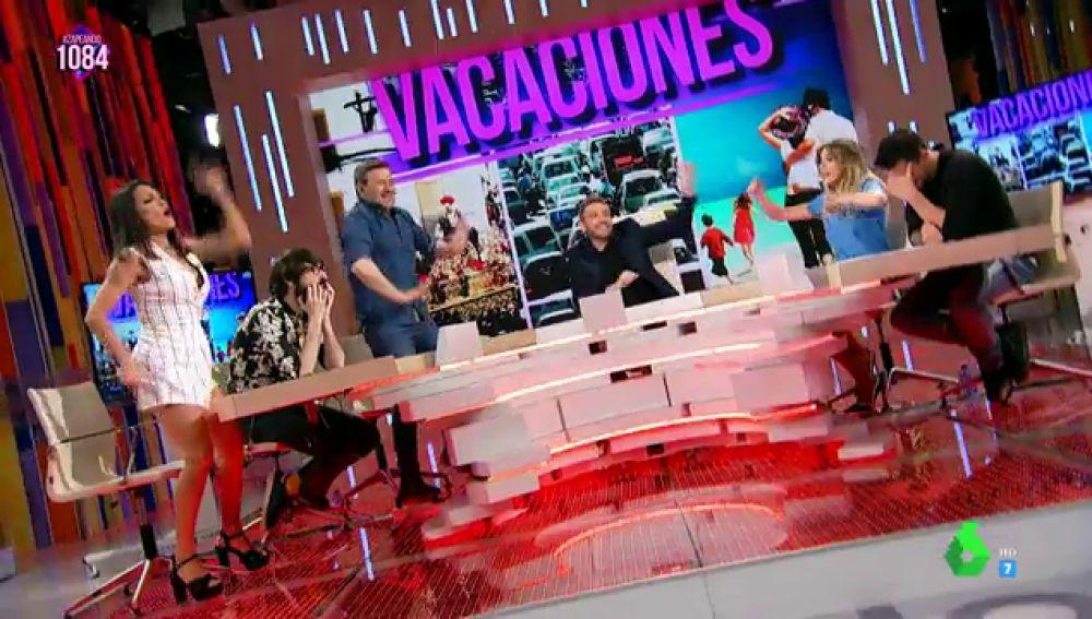 Lorena Castell, Anna Simon, Miki Nadal y Frank Blanco