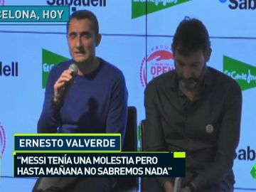 """Valverde: """"Messi tiene pequeñas molestias, pero nada importante. Estoy tranquilo"""""""