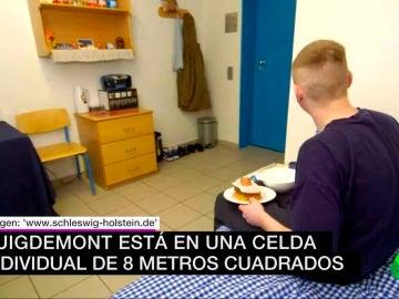Imagen de la celda como la que ocupa Puigdemont