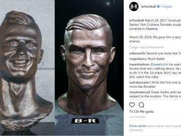 El nuevo busto de Cristiano Ronaldo
