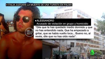 La conversación de dos de los italianos acusados de violación en grupo y de homicidio en Mallorca que España archivó como un caso de 'balconing'