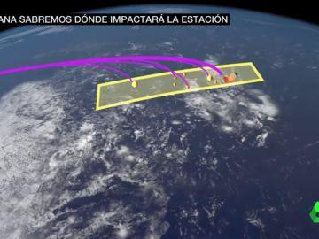 Impacto de la estación espacial china